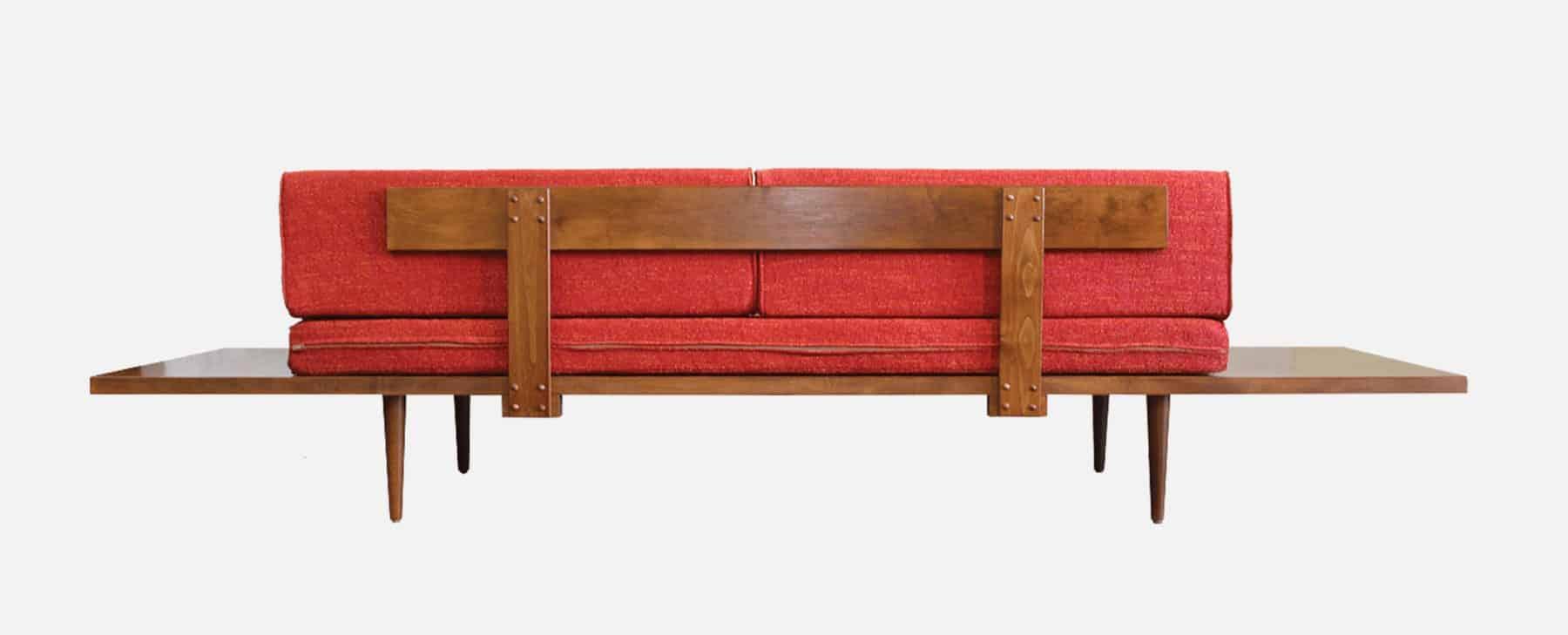 Mid Century Modern Sofa - Backside