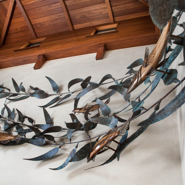 ocean gallery - coastal wildlife sculptures - kelp forest