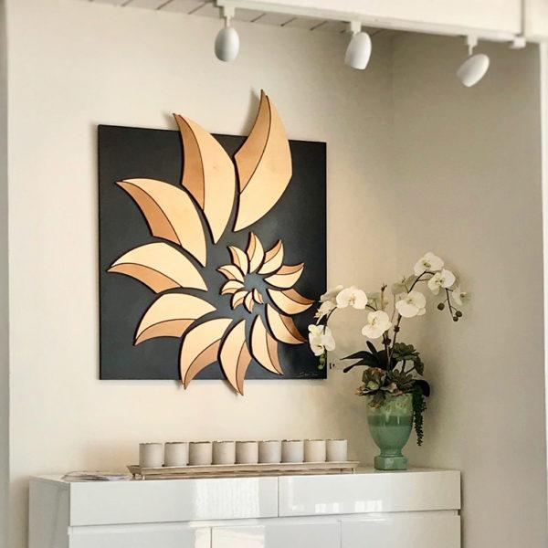 Laguna Beach Art Galleries - Nautilus Shell wood artwork - ocean gallery