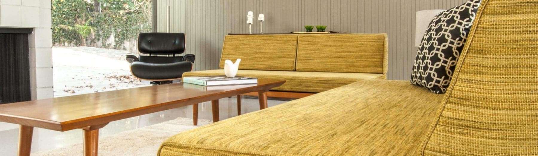 mid century modern daybed sofa - mad men style sofa - affordable mid century modern furniture