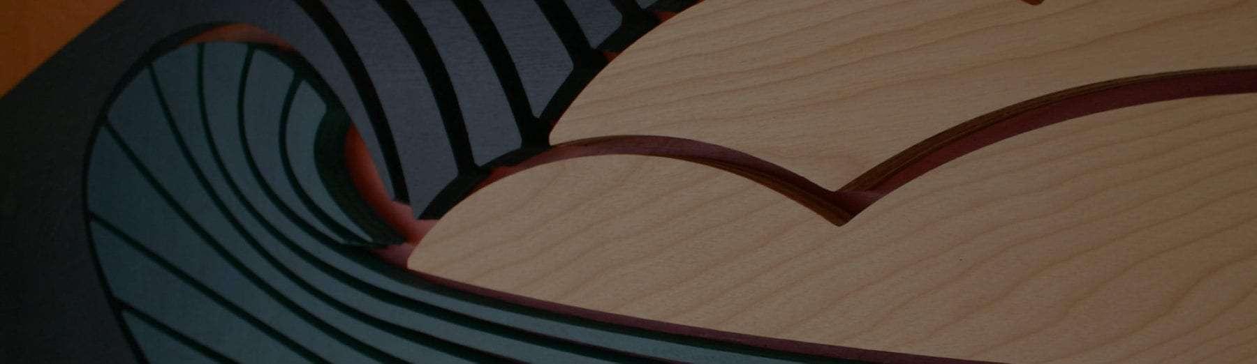 Wood wave sculpture