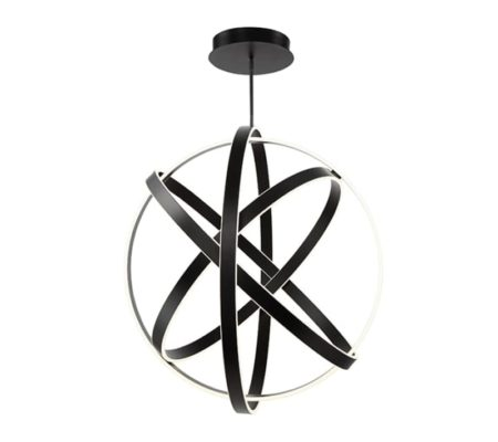 Sphere Pendant Light | Modern Lighting | Black