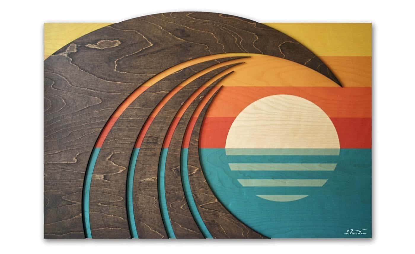 Hawaiian Art - Wave artist Shaun Thomas - Laguna Beach Gallery - ocean gallery