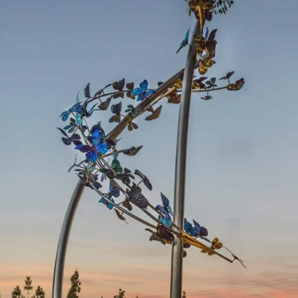 Butterfly Sculpture | Statue Installation | artist consultant