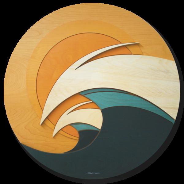 ocean gallery - wood wave sculpture