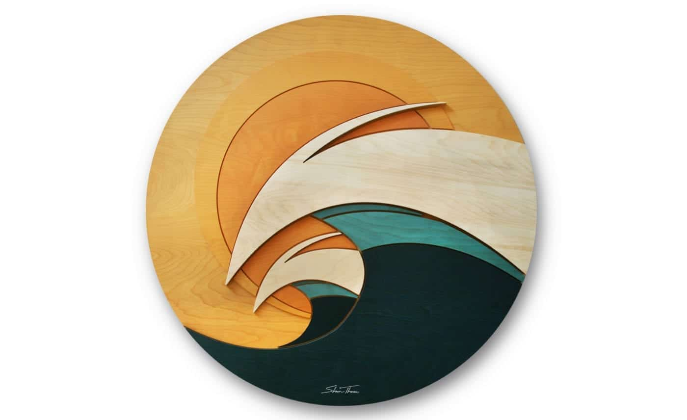 ocean gallery - wood wave sculpture