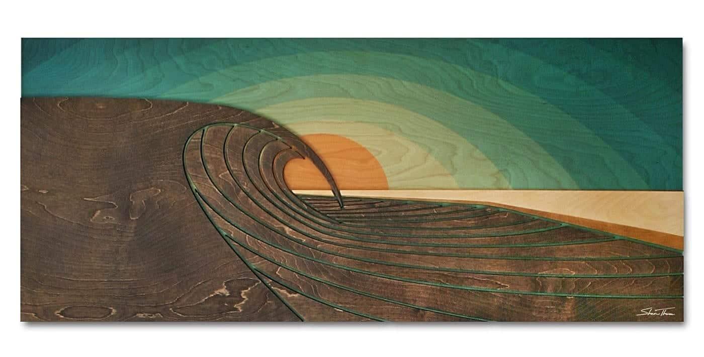 wave gallery - Wave Artist Shaun Thomas - Laguna Beach - ocean gallery