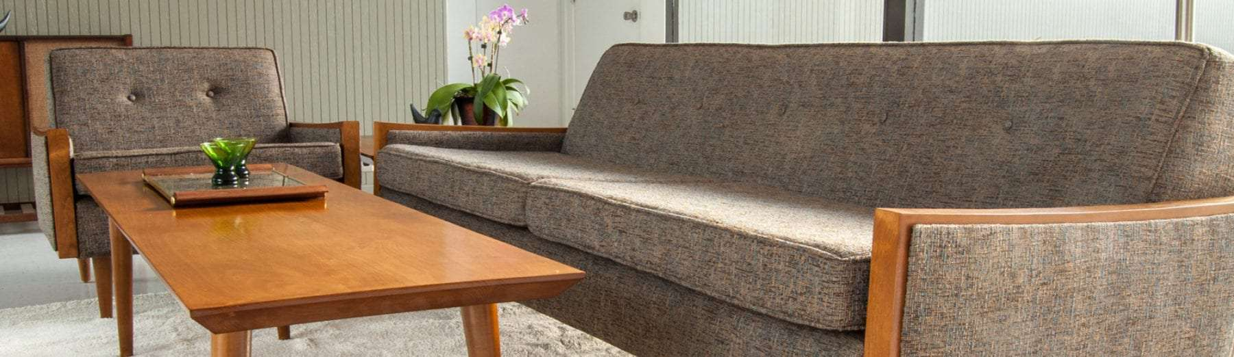 mad men style sofa - affordable mid century modern furniture