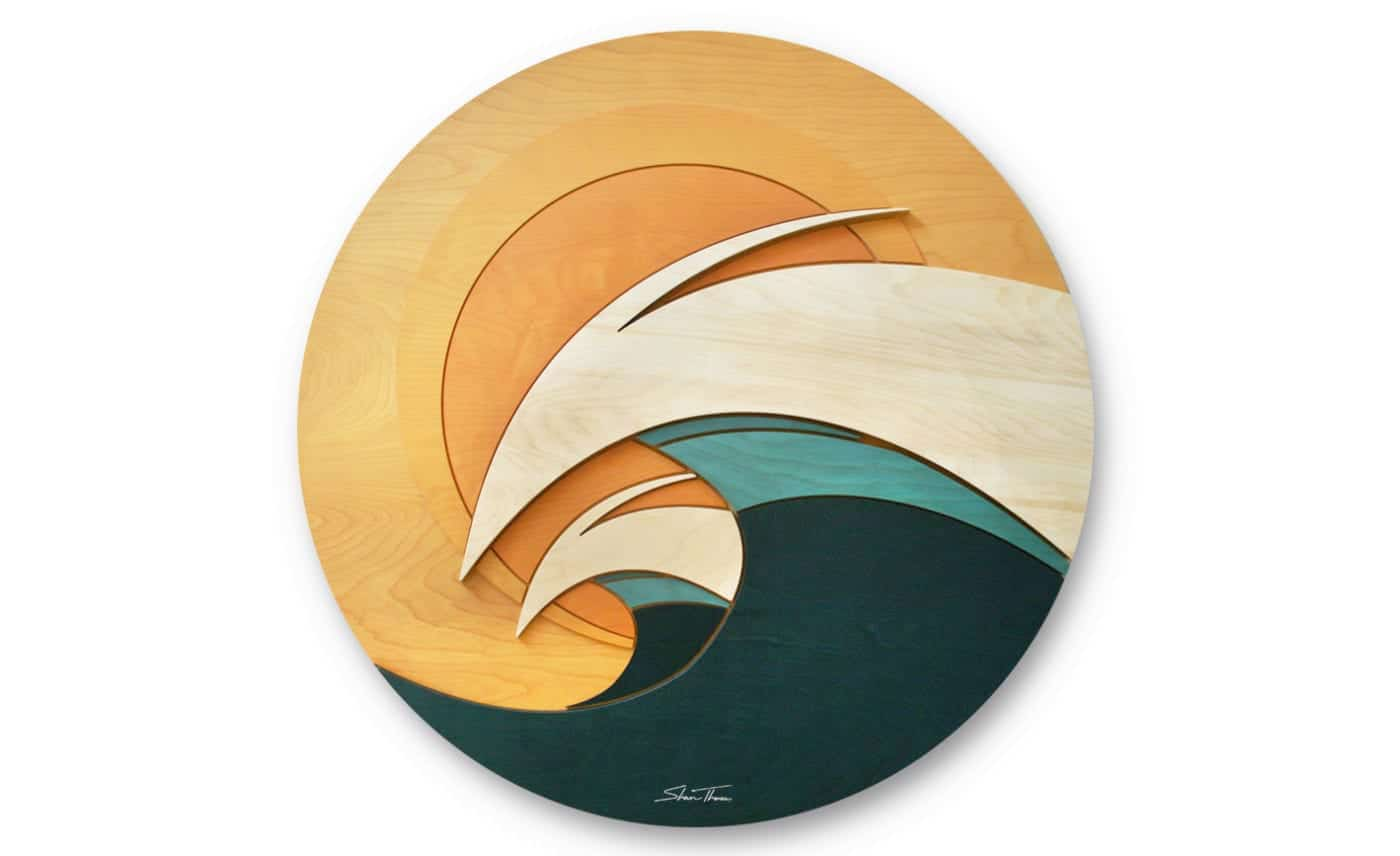 ocean gallery - Coast Gallery - wood wave sculpture