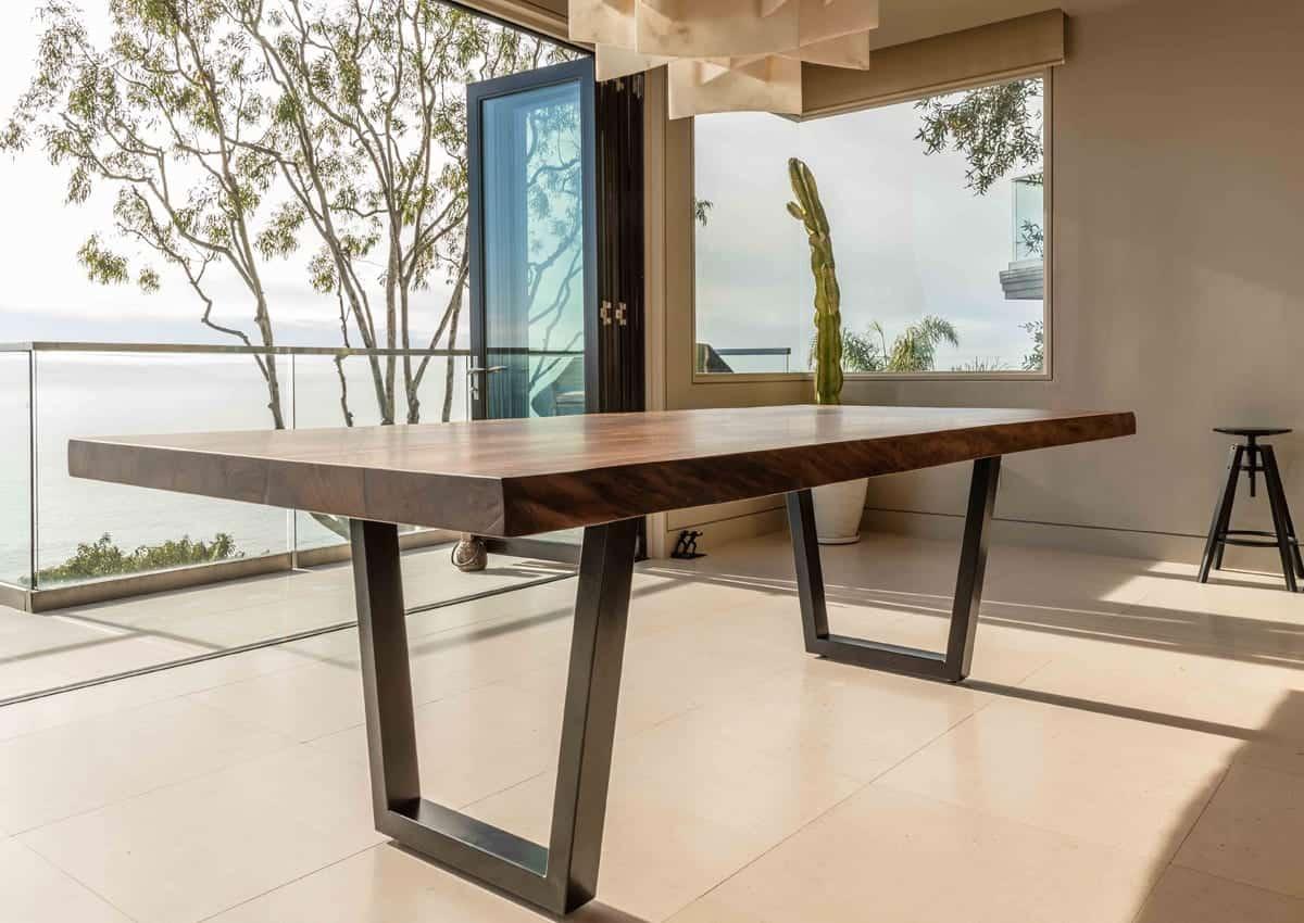 Luxury Furniture - Black Walnut Wood Slab Dining Table