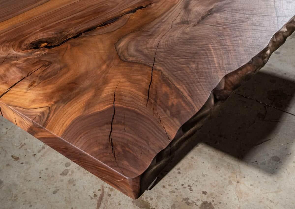 Custom Wood Slab Dining Room Table