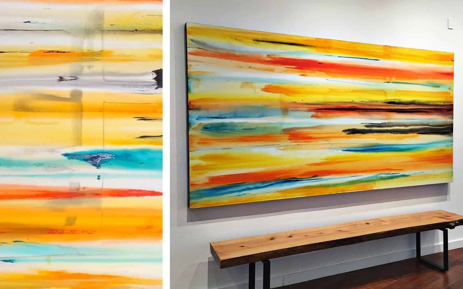 Erik Skoldberg Contemporary Painting - Vibrant & Energetic Artwork
