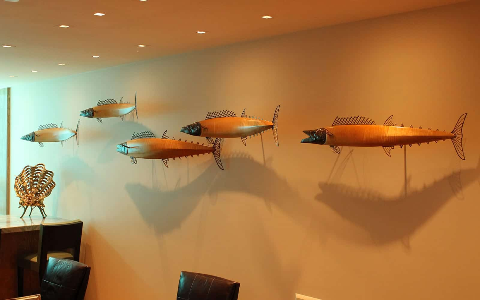coastal wildlife sculptures, ocean sculptures, Commission Installation