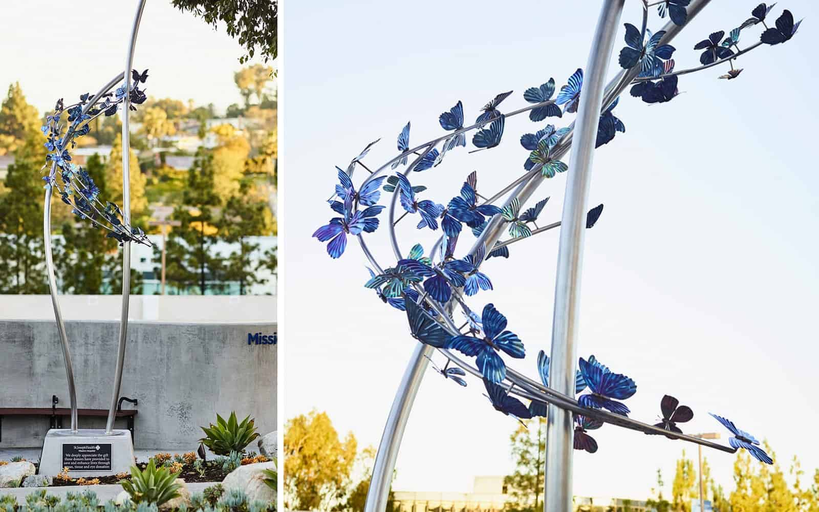 Butterfly Sculpture | Commissioned Statue Installation