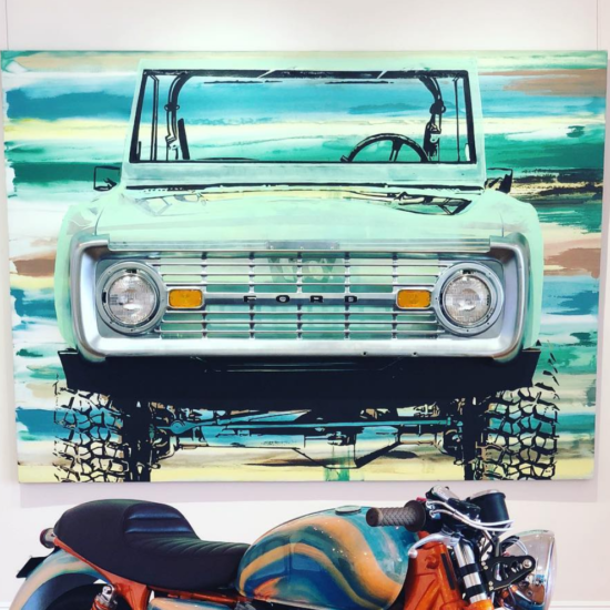 Custom Bronco | Erik Skoldberg Contemporary Painting | Vibrant & Energetic Artwork
