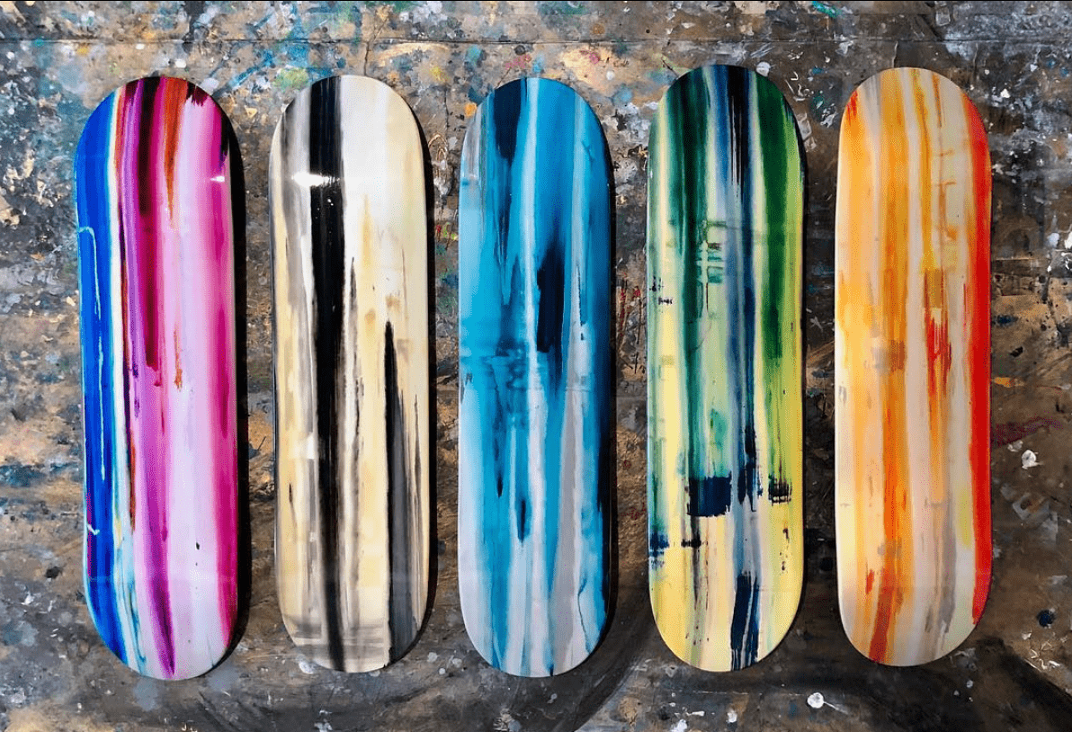 Skateboard Art by Erik Skoldberg | Contemporary Paintings | Vibrant & Energetic Artwork