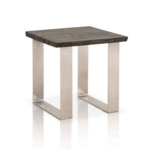 Oak Table - Contemporary Furniture - Brushed Nickel