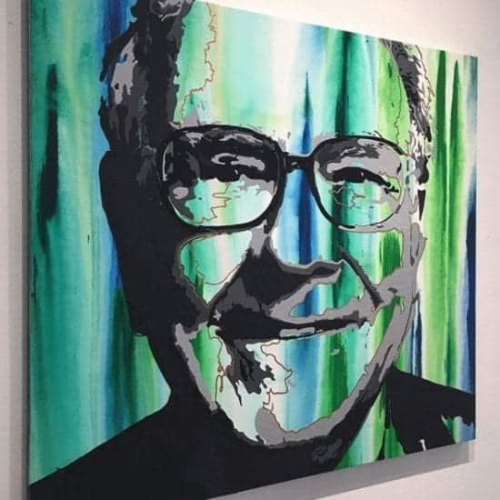 Warren Buffett - Contemporary Artwork - Iconic painting