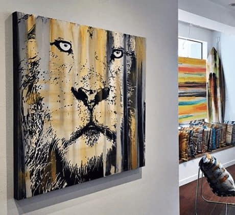 Contemporary painting - lion - icon collection