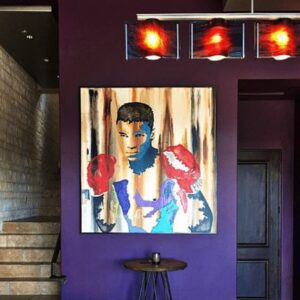 Muhammad Ali - Contemporary painting - Abstract - Icon Collection