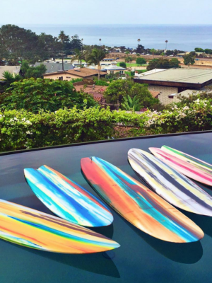 Custom Surfboard Artwork by Erik Skoldberg   Contemporary Paintings   Vibrant & Energetic Artwork
