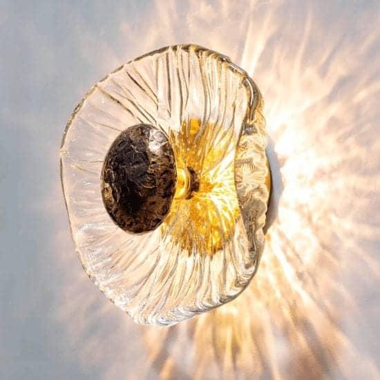 Iris Sconce | Hand Blown Glass Lighting
