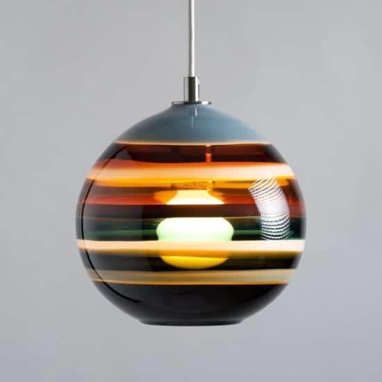 Banded Orb Pendant - Lighting